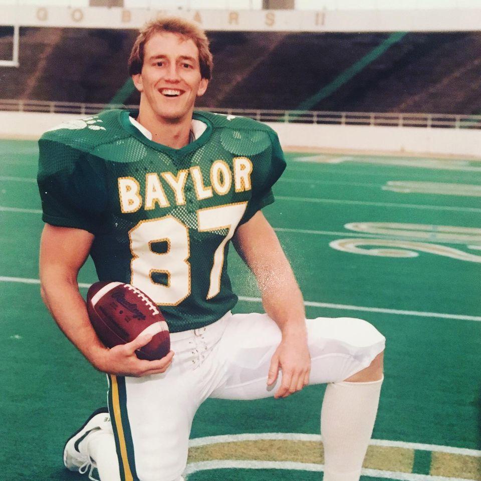 Jay Kelly as a football player at Baylor.