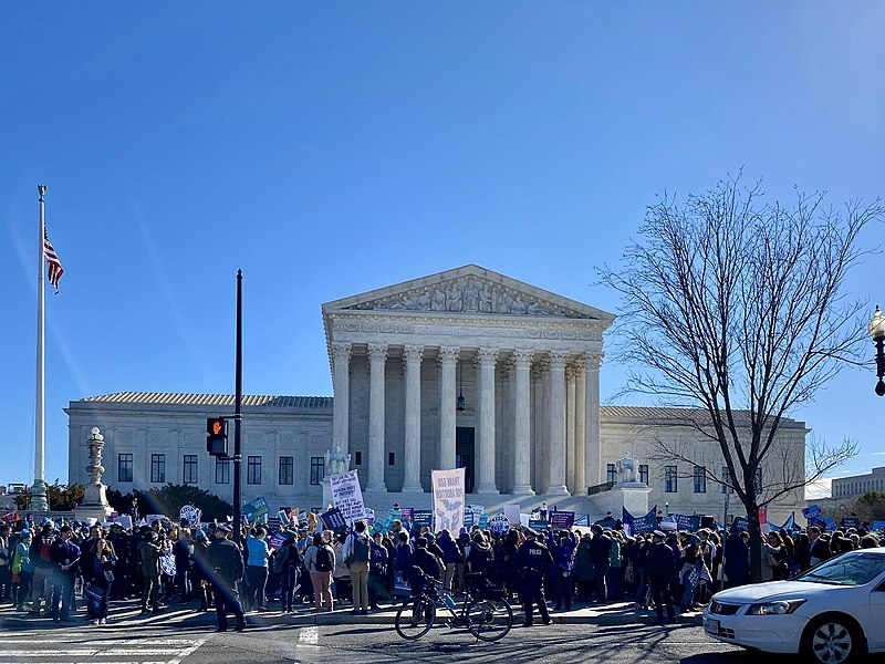 The Supreme Court building, often a center for controversy.