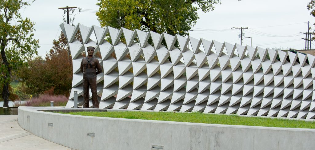 Doris Miller lived through the Day of Infamy; this memorial is a tribute to his courage.