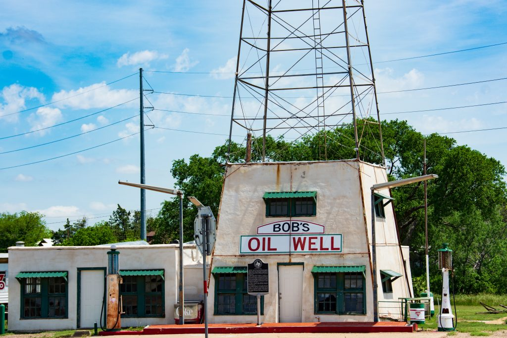 Bob's oil well and cafe is uniquely Texan.