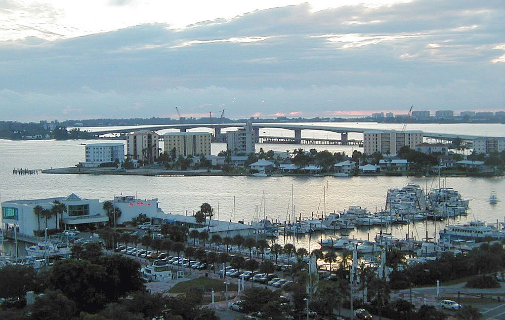 Sarasota Bay provided a a backdrop for a the Michaels' pay it forward life.