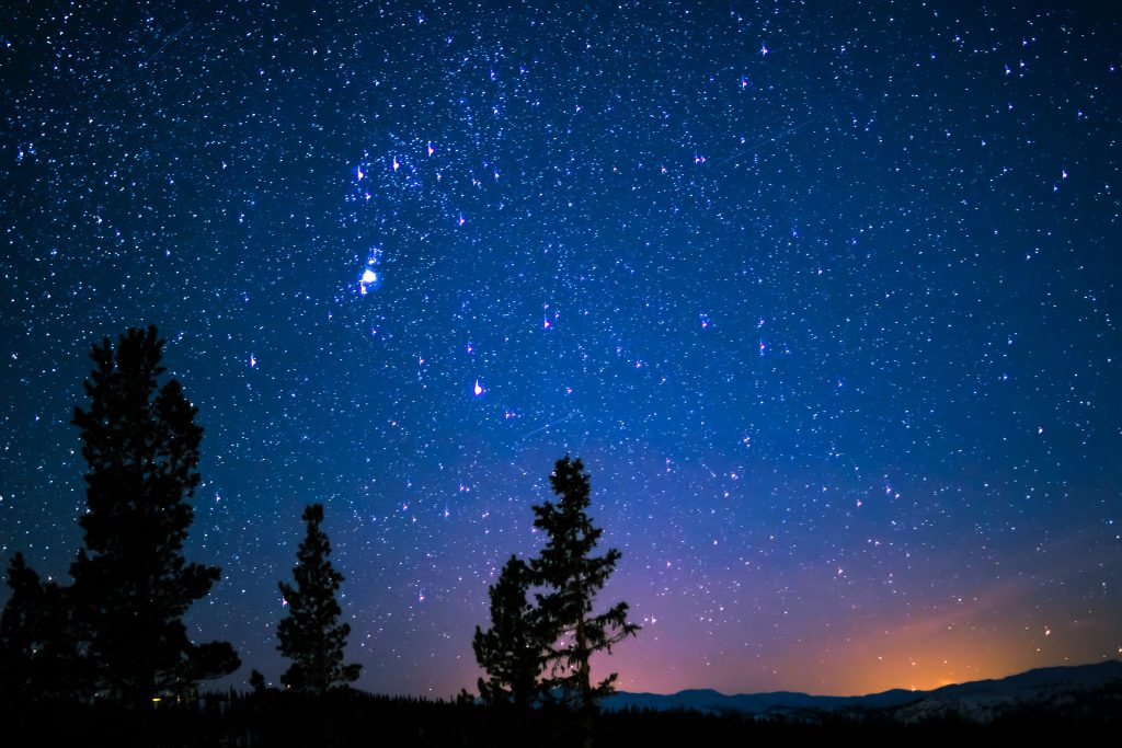Starry nights are almost as good as sunshine.